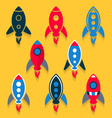 Rocket icons collection vector image