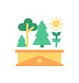 rogarden flat color icon vector image