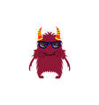 scary cool monster avatar - animated cartoon vector image vector image