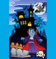 scene with halloween theme 6 vector image vector image