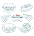 Scetch fast food menu vector image vector image