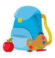school backpack cartoon vector image vector image
