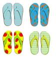 Set flip flops isolated on white background vector image