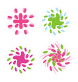 set of abstract spinning logos collection vector image vector image