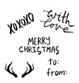 set of christmas lettering handwritten vector image vector image