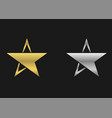 star symbol icons vector image vector image