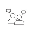 Teamwork icon outline vector image vector image
