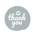 thank you round label sticker badge promotional vector image vector image