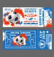 tickets of football soccer world cup 2018 vector image vector image