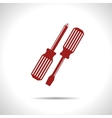 two screwdrivers icon Eps10 vector image vector image