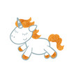 unicorn on white background unicorn on white vector image vector image