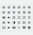 video player mini icons set vector image