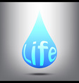 Water is Life vector image vector image