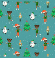 winter christmas eve and kids seamless pattern vector image vector image