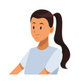 woman pony tail vector image vector image