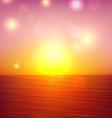 Tropical sunset summer coast vector image