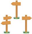 Wooden sign post set vector image