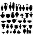 antique ceramics silhouettes vector image