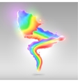 Color rainbow paint splashes for background vector image