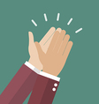 Businessman hands clapping vector image