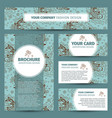 corporate identity design with japanese pattern vector image