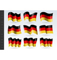 3d waving flag germany isolated on white vector image vector image