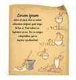 a poster on sheet old paper with torn edges vector image