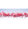 abstract composition with flying balls in vector image vector image