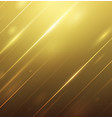 abstract light with luxury golden background vector image