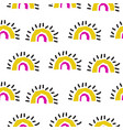 abstract rainbow fans seamless pattern vector image vector image