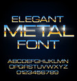 alphabet font vector image vector image