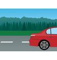 auto mountain vector image