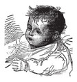 baby face in this picture vintage engraving vector image vector image