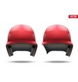 Baseball helmet vector image vector image
