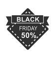 black friday sale banner discount offer ribbon vector image vector image