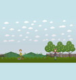blueberry hunting season concept flat vector image