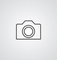 camera outline symbol dark on white background vector image