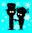 christmas couple vector image