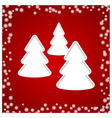 christmas tree white vector image vector image