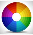 circular color wheel color palette vector image