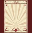 circus retro poster sunbeams vector image vector image