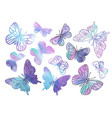 clip arts purple butterflies color vector image