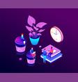coffee break - modern isometric colorful vector image vector image
