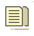 coppy document icon design 48x48 pixel perfect vector image vector image