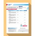 Customizable Invoice Form Template Design Blue vector image