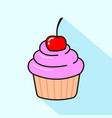 Cute cupcake with pink frosting