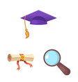 design of education and learning sign vector image
