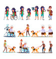 different character person invalid set vector image vector image