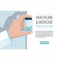 doctors hand showing pills bottle vector image vector image
