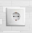 electric socket plastic standard panel vector image vector image